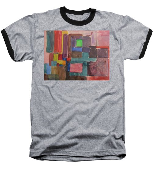 Baseball T-Shirt featuring the painting Watercolor Shapes by Barbara Yearty