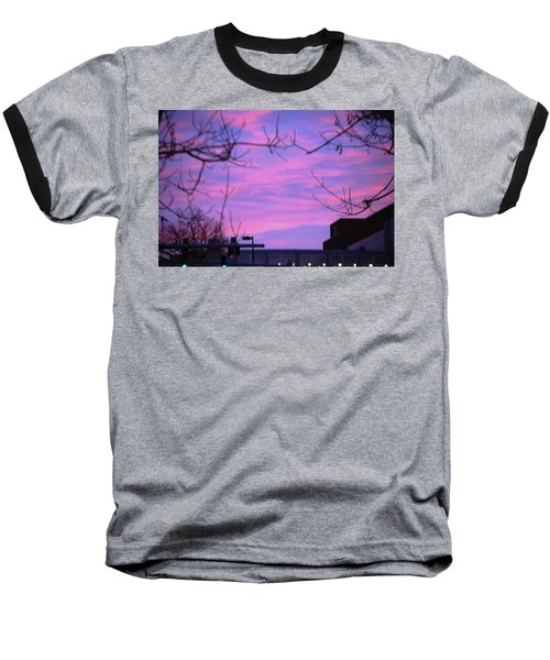 Watercolor Sky Baseball T-Shirt by Sumoflam Photography
