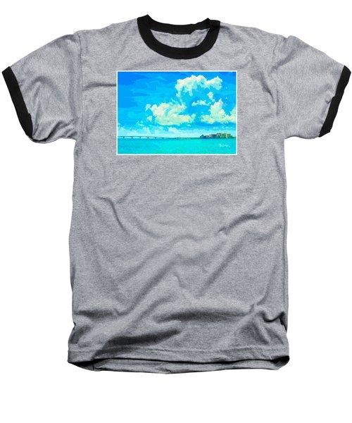 Watercolor Spring On Sarasota Bay Baseball T-Shirt by Susan Molnar
