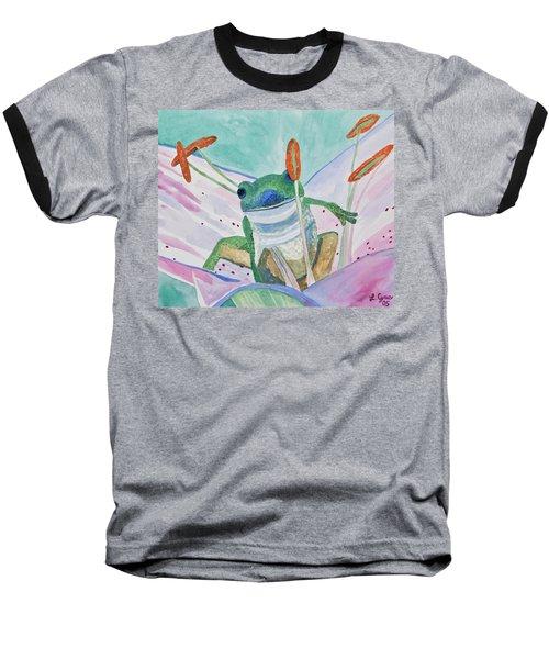 Watercolor - Tree Frog Baseball T-Shirt