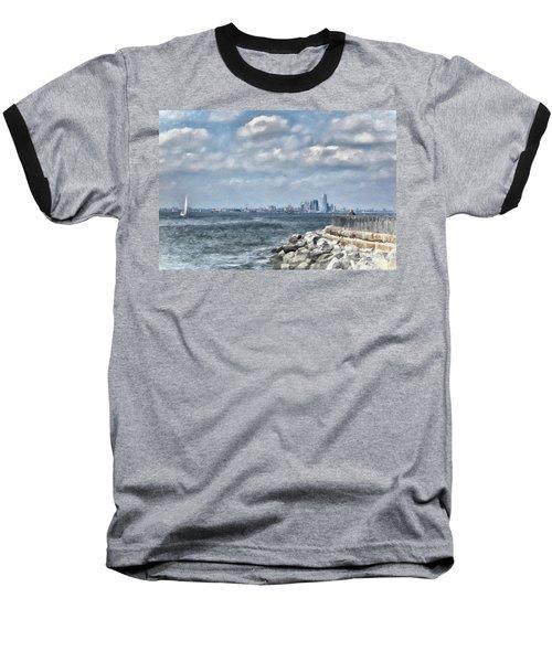 Baseball T-Shirt featuring the digital art Watercolor Views by Terry Cork