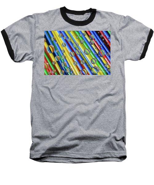 waterDroplets02 Baseball T-Shirt by Brian Roscorla