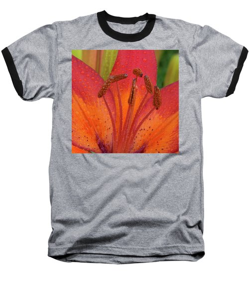 Baseball T-Shirt featuring the photograph Watered Lily by Jean Noren
