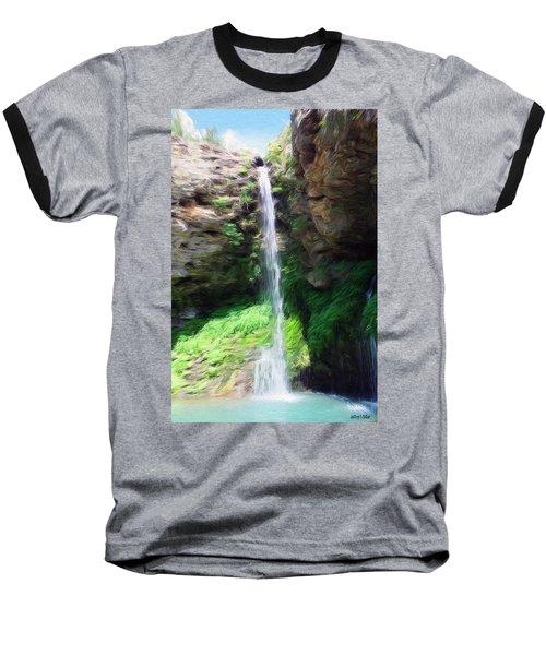 Waterfall 2 Baseball T-Shirt