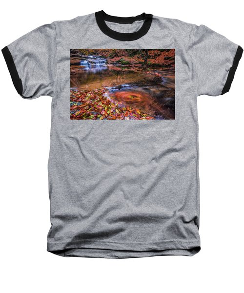 Waterfall-4 Baseball T-Shirt