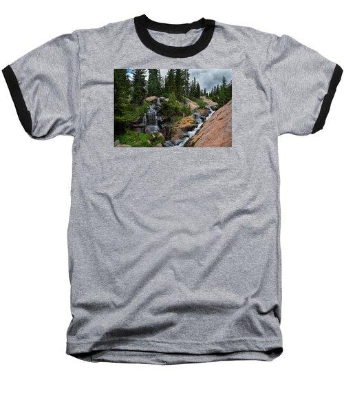 Waterfall Above Upper Slate Lake Baseball T-Shirt