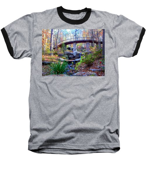 Waterfall And A Bridge In The Fall Baseball T-Shirt