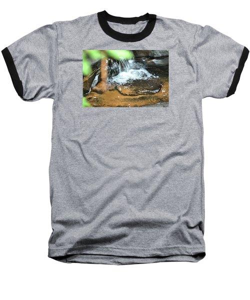 Waterfall And Pool On Soap Creek Baseball T-Shirt by James Potts