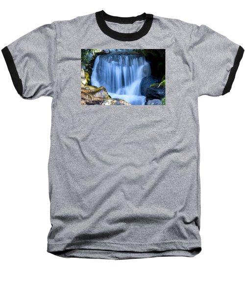 Waterfall At Dow Gardens, Midland Michigan Baseball T-Shirt by Pat Cook