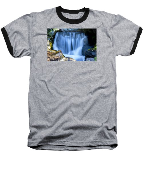Waterfall At Dow Gardens, Midland Michigan Baseball T-Shirt
