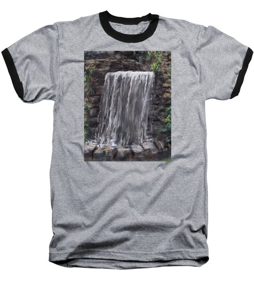 Waterfall At Longfellow's Gristmill Baseball T-Shirt by Jack Skinner
