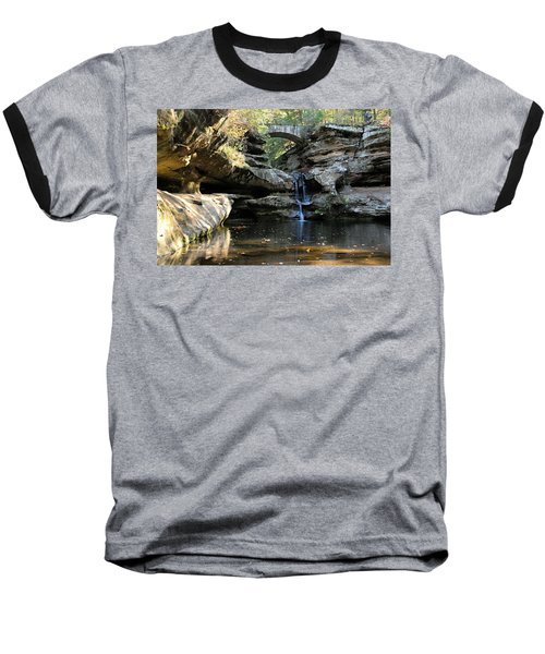 Waterfall At Old Man Cave Baseball T-Shirt