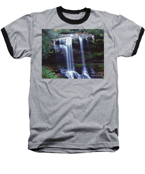 Waterfall  Baseball T-Shirt by Debra Crank