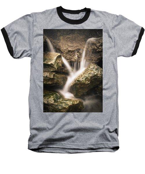 Waterfall Detail  Baseball T-Shirt by Scott Meyer