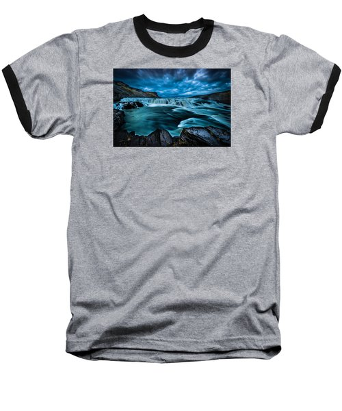 Baseball T-Shirt featuring the photograph Waterfall Drama by Chris McKenna