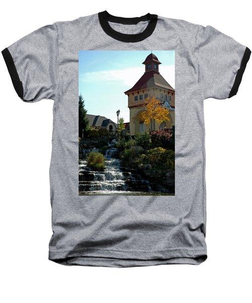 Baseball T-Shirt featuring the photograph Waterfall Frankenmuth Mich by LeeAnn McLaneGoetz McLaneGoetzStudioLLCcom