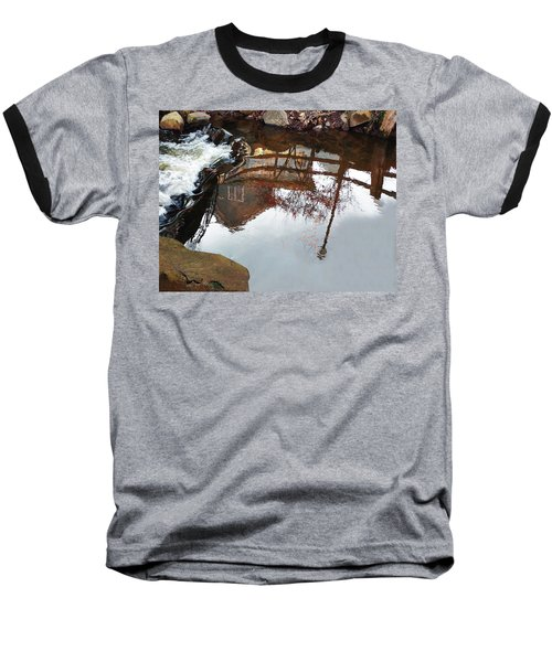 Waterfall From Calm Waters Baseball T-Shirt
