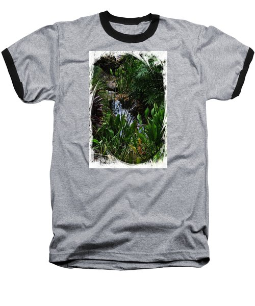 Waterfall Garden Swirl 2 Baseball T-Shirt