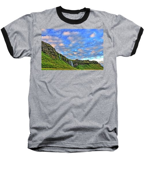 Baseball T-Shirt featuring the photograph Waterfall Hill by Scott Mahon
