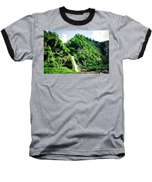 waterfall Himalayas mountains NEPAL Baseball T-Shirt