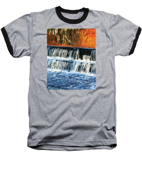 Waterfall In Downtown Waukesha Baseball T-Shirt