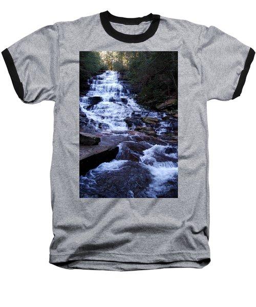 Waterfall In Georgia Baseball T-Shirt by Angela Murray