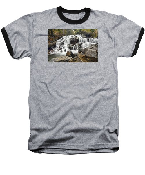 Waterfall In Lee Vining Canyon Baseball T-Shirt