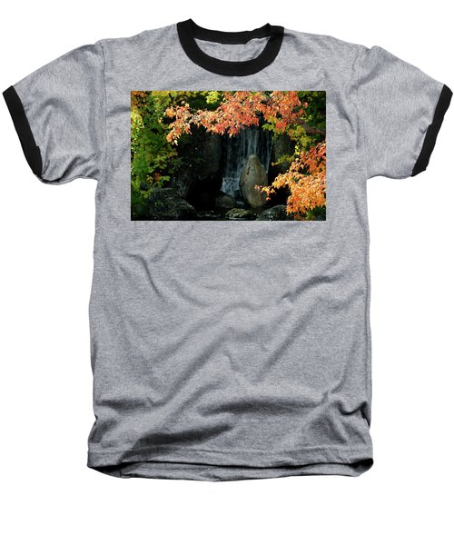 Waterfall In The Garden Baseball T-Shirt