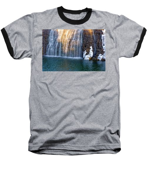 Waterfall In Winter Baseball T-Shirt