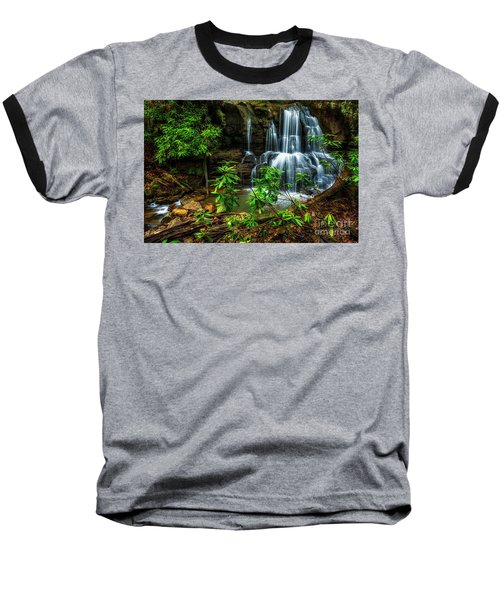 Baseball T-Shirt featuring the photograph Waterfall On Back Fork by Thomas R Fletcher