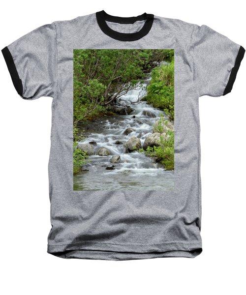 Waterfall Picture - Alaska Baseball T-Shirt