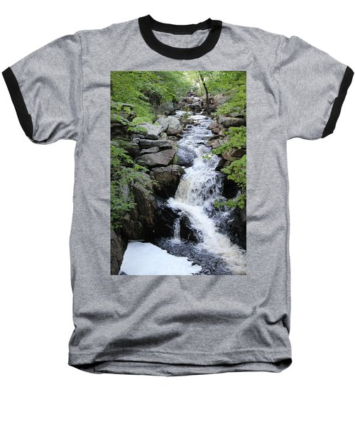 Waterfall Pillsbury State Park Baseball T-Shirt