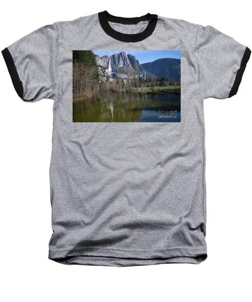 Waterfall Reflection Color Baseball T-Shirt