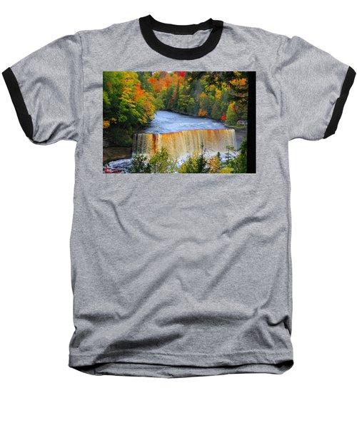 Waterfalls Of Michigan Baseball T-Shirt by Michael Rucker