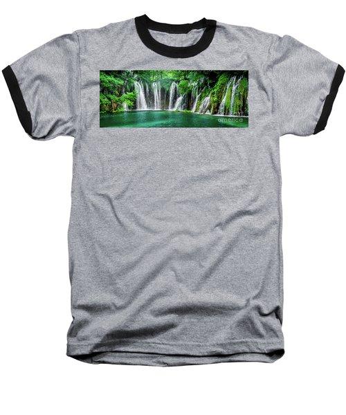 Waterfalls Panorama - Plitvice Lakes National Park Croatia Baseball T-Shirt