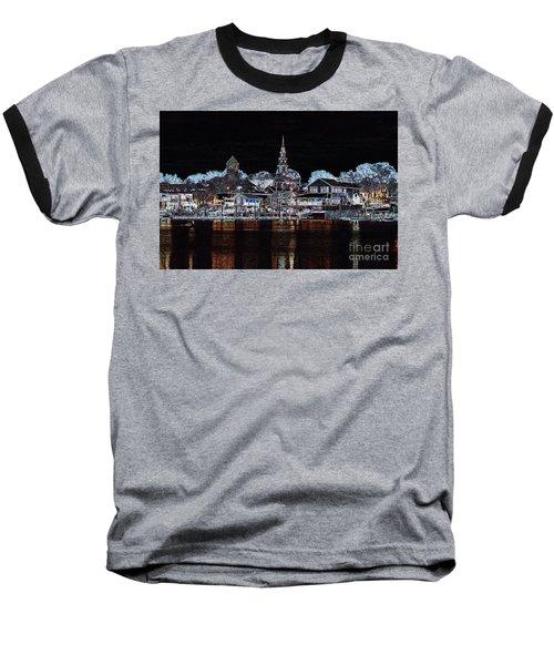 Waterfront Etching Baseball T-Shirt