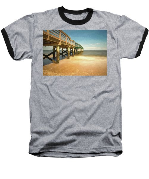 Baseball T-Shirt featuring the photograph Waterfront Park Pier 1 by Gary Slawsky
