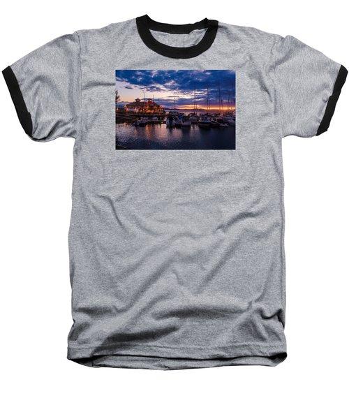 Waterfront Summer Sunset Baseball T-Shirt
