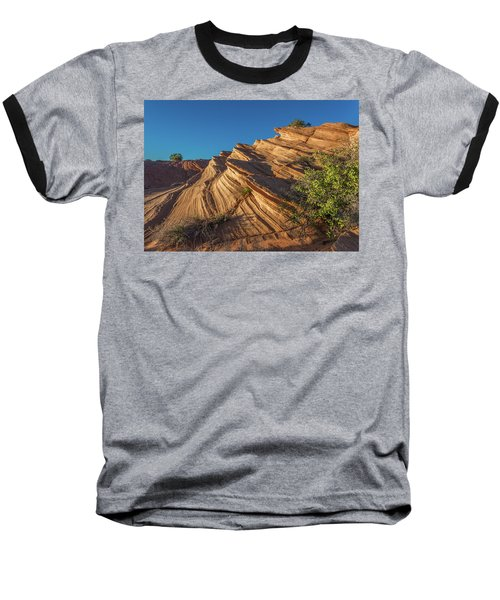 Waterhole Canyon Rock Formation Baseball T-Shirt