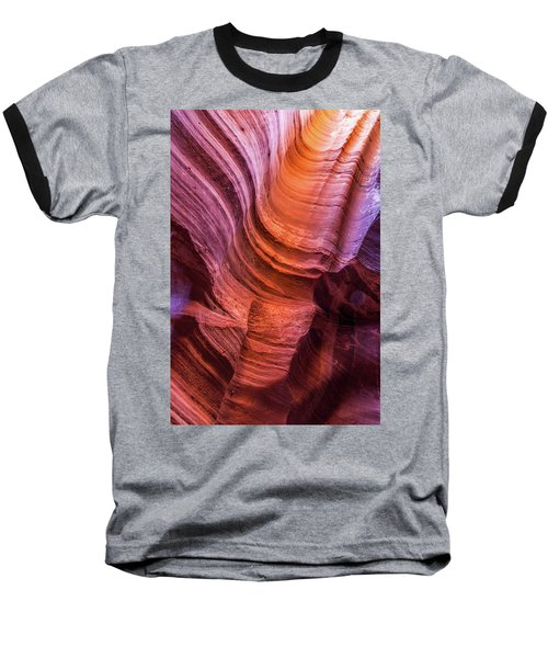 Waterholes Canyon Ribbon Candy Baseball T-Shirt