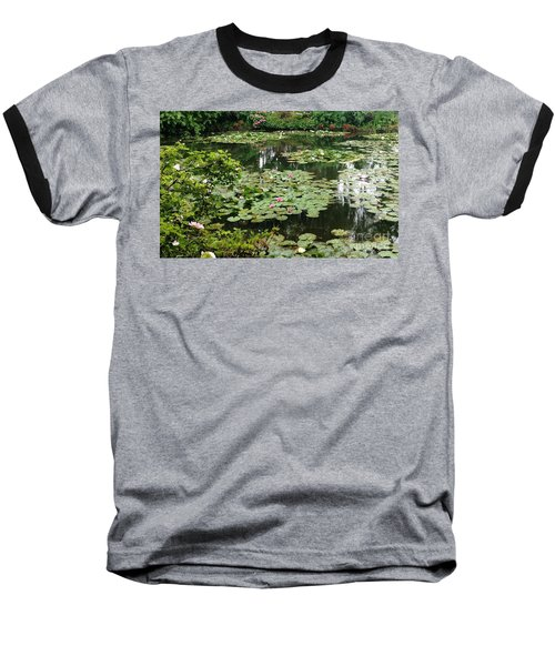 Baseball T-Shirt featuring the photograph Waterlilies At Monet's Gardens Giverny by Therese Alcorn