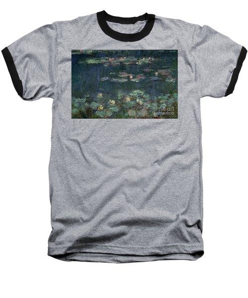 Waterlilies Green Reflections Baseball T-Shirt