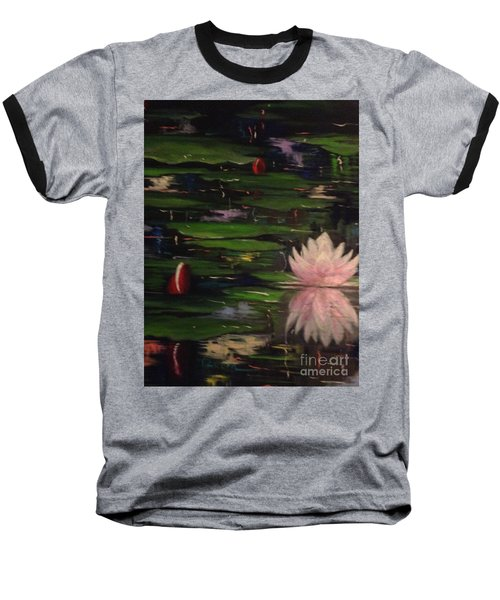Baseball T-Shirt featuring the painting Waterlilies - Original Sold by Therese Alcorn