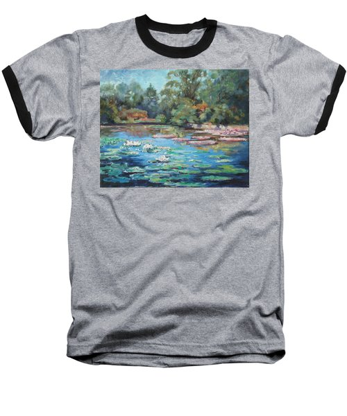 Waterlilies Pond In Tower Grove Park Baseball T-Shirt