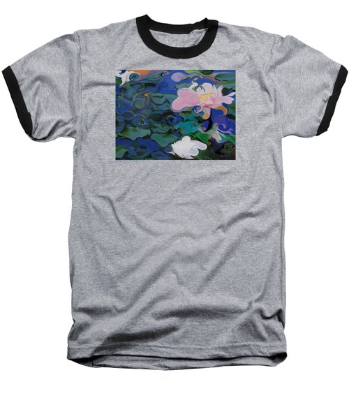 Baseball T-Shirt featuring the painting Waterlilies Six by David Klaboe
