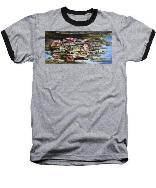 Waterlilies Tower Grove Park Baseball T-Shirt by Irek Szelag