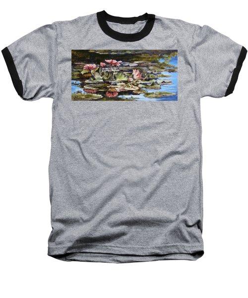 Waterlilies Tower Grove Park Baseball T-Shirt