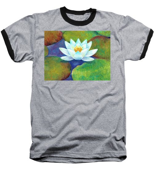 Baseball T-Shirt featuring the painting Waterlily by Elizabeth Lock
