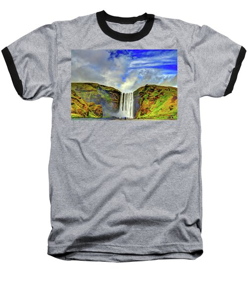 Baseball T-Shirt featuring the photograph Watermall And Mist by Scott Mahon