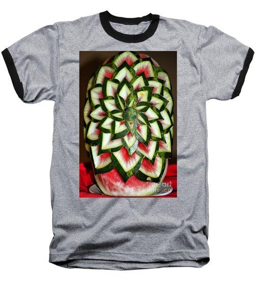 Watermelon Art Baseball T-Shirt